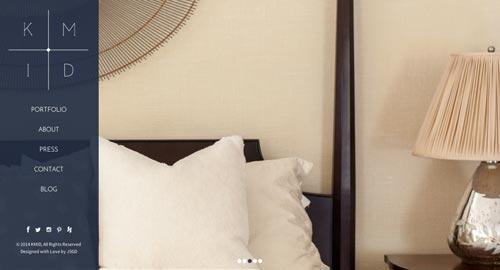 Ejemplos de paginas web de agencias de diseño de interiores: KMID
