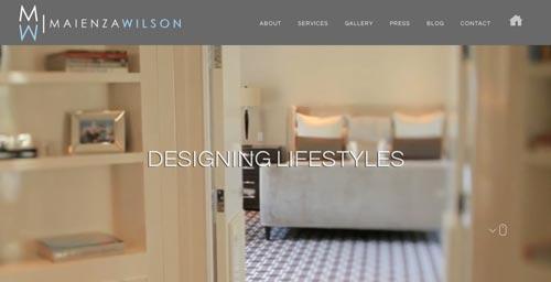 Ejemplos de paginas web de agencias de diseño de interiores: Maienza Wilson