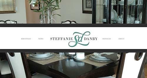 Ejemplos de paginas web de agencias de diseño de interiores: Steffanie Danby