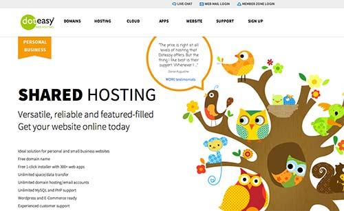 Ejemplos de paginas web que presentan testimonios: Doteasy