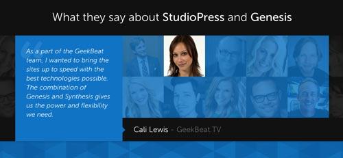 Ejemplos de paginas web que presentan testimonios: Studio Press