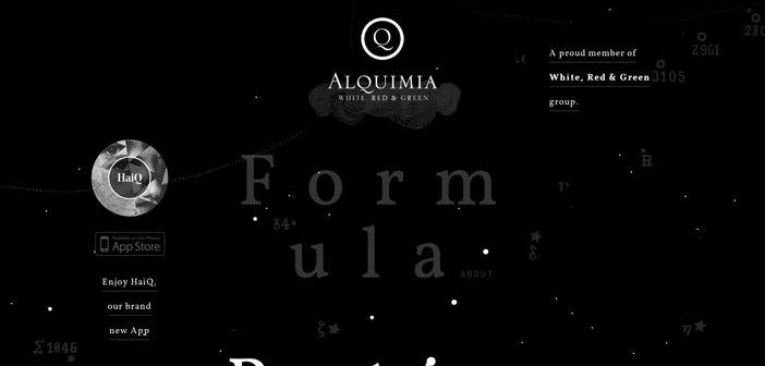 Ejemplos de paginas web que hacen uso del parallax scrolling: Alquimia WRG