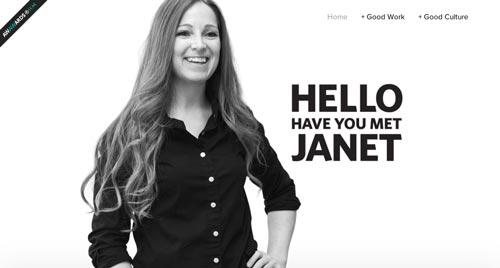 Ejemplos de paginas web que hacen uso del parallax scrolling: Have you met Janet