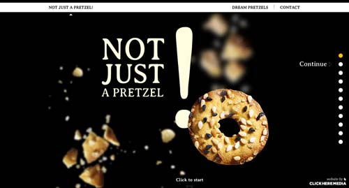 Ejemplos de paginas web que hacen uso del parallax scrolling: Pressel