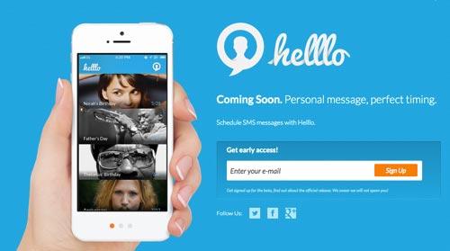 Ejemplos de formularios web de acceso: Helllo