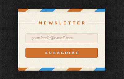 Ejemplos de formularios web de acceso: Rebound Newsletter
