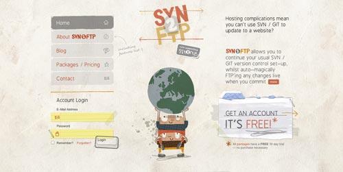 Ejemplos de formularios web de acceso: SVN2FTP