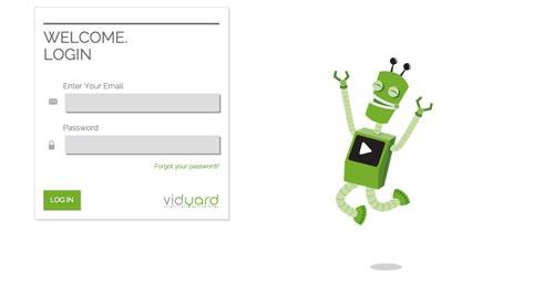 Ejemplos de formularios web de acceso: Vidyard