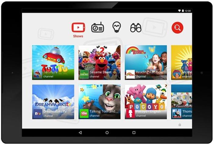 Google lanzará nueva app de Youtube para niños: Interfaz de Youtube Kids