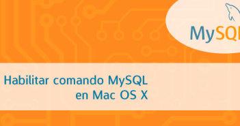 Cómo habilitar comando MySQL en Mac OS X