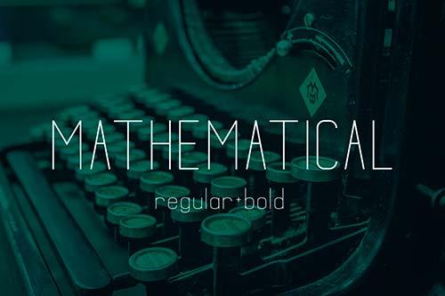 Tipografías apropiadas para diseño de marca: Mathematical