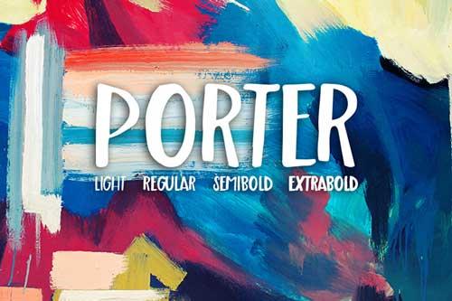 Tipografías apropiadas para diseño de marca: Porter