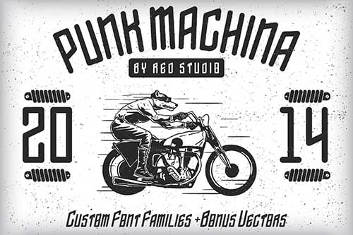 Tipografías apropiadas para diseño de marca: Punk Machina