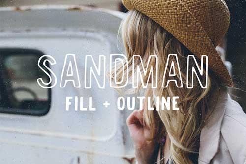 Tipografías apropiadas para diseño de marca: Sandman