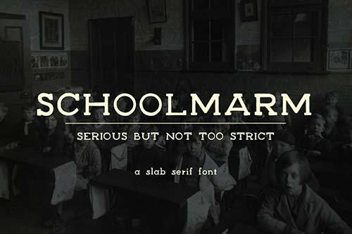 Tipografías apropiadas para diseño de marca: Schoolmarm