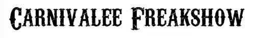 Tipografias gratis para tus diseños vintage: Carnivalee Freakshow