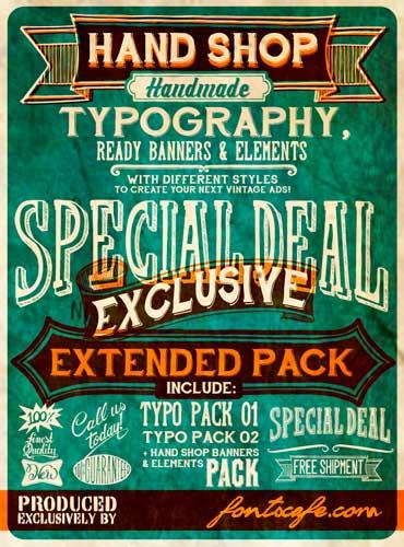 Tipografias gratis para tus diseños vintage: Handshop Typography C30