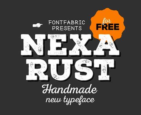 Tipografias gratis para tus diseños vintage: Nexa Rust
