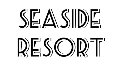 Tipografias gratis para tus diseños vintage: Seaside Resort