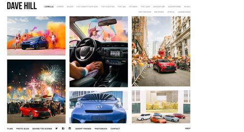 Pautas para crear sitio web enfocado en la fotografía: Usar una cuadrícula