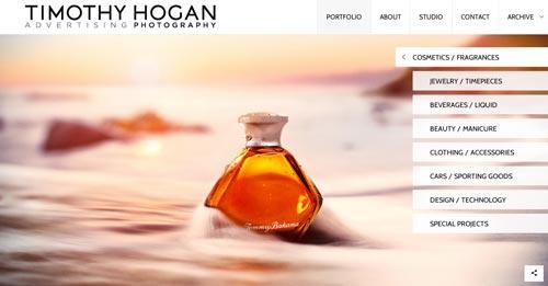 Pautas para crear sitio web enfocado en la fotografía: Usar efectos simples