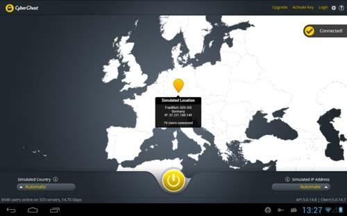Programas para Android para navegar usando VPN: CyberGhost