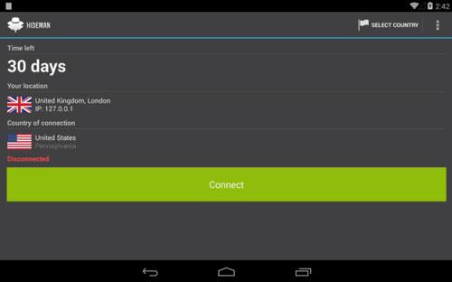 Programas para Android para navegar usando VPN: Hideman VPN
