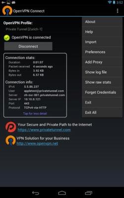Programas para Android para navegar usando VPN: OpenVPN Connect