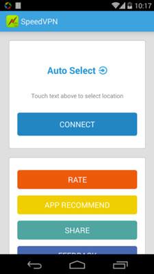 Programas para Android para navegar usando VPN: Speed VPN
