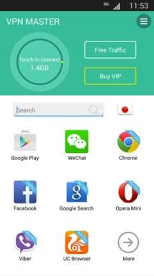 Programas para Android para navegar usando VPN: VPN Master