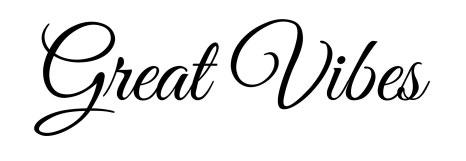 Tipografias gratis para tus proyectos de San Valentín: Great Vibes