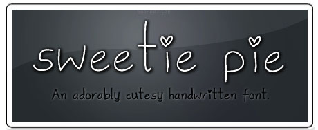Tipografias gratis para tus proyectos de San Valentín: Sweetie Pie