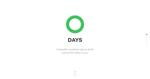 Ejemplos de landing pages con un gran diseño: Days App