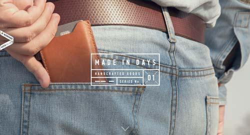 Ejemplos de landing pages con un gran diseño: Made in Days