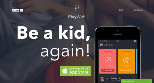 Ejemplos de landing pages con un gran diseño: PlayWith