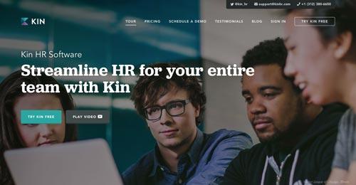 Ejemplos de paginas web que hacen uso de tipografía serif: Kin HR