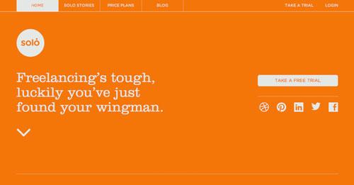 Ejemplos de paginas web que hacen uso de tipografía serif: Solo