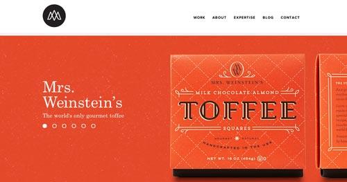 Ejemplos de paginas web que hacen uso de tipografía serif: Studio MPLS