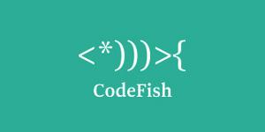 Ejemplos de diseño de logos tipográficos creativos: Code Fish