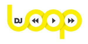Ejemplos de diseño de logos tipográficos creativos: DJ Loop