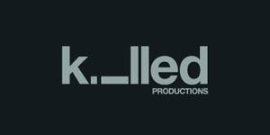 Ejemplos de diseño de logos tipográficos creativos: Killed Productions