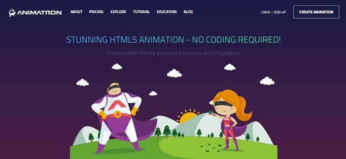 Herramientas para crear animaciones HTML5: Animatron