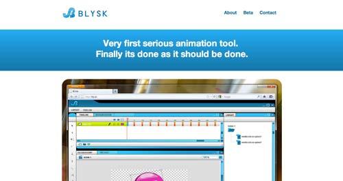 Herramientas para crear animaciones HTML5: Blysk