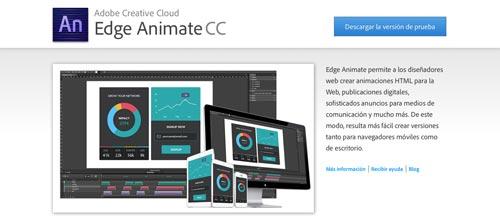 Herramientas para crear animaciones HTML5: Edge Animate CC