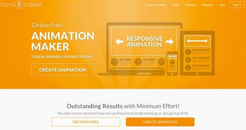 Herramientas para crear animaciones HTML5: HTML5 Maker