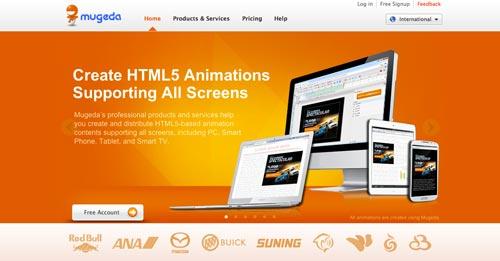 Herramientas para crear animaciones HTML5: Mugeda Studios