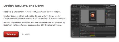 Herramientas para crear animaciones HTML5: NodeFire