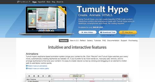 Herramientas para crear animaciones HTML5: Tumult Hype