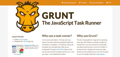 Herramientas para comprimir codigo JavaScript: Grunt