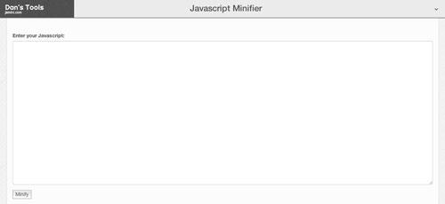 Herramientas para comprimir codigo JavaScript: JSMini